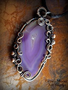 purple agate slice by Gypsy Moon Art Studio, via Flickr
