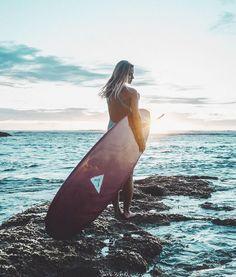 Surfing girl