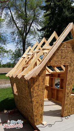 Crooked Kids Playhouse for a Fundraiser Crooked Kids Playhous. - Crooked Kids Playhouse for a Fundraiser Crooked Kids Playhouse for a Fundraiser - Fairy Houses, Play Houses, Crooked House, Small Wooden House, Timber Roof, Build A Playhouse, Tree House Designs, Kids Play Area, Children Play