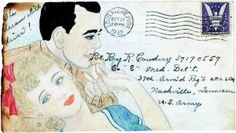 Couple's Wartime Correspondence was more than just words of love, they were also works of art! <3