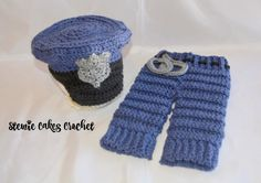 Crochet Baby Police Officer Photo Set  Infant by stewiecakes