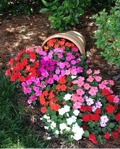 awesome Striking Petunia Centerpiece Ideas for Garden Design and Yard Landscaping Garden Yard Ideas, Garden Projects, Amazing Gardens, Beautiful Gardens, Small Back Gardens, Beautiful Flowers Garden, Diy Flowers, Front Yard Landscaping, Landscaping Ideas