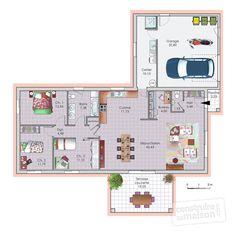 Dressed plan - house - V - Wood Decora la Maison French Architecture, Architecture Plan, Tiny House Plans, Architect Design, Basement Remodeling, My Dream Home, Building A House, Sweet Home, Floor Plans