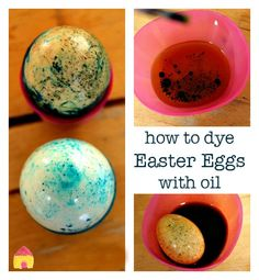 how to dye easter eggs with oil, easy Easter egg decorating ideas, Easter egg craft Easter Activities, Holiday Activities, Holiday Crafts, Holiday Fun, Holiday Ideas, Easter Egg Dye, Hoppy Easter, Easy Easter Crafts, Crafts For Kids