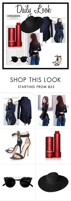 """""""Sanrense # I-14"""" by merima-musanovic ❤ liked on Polyvore featuring Gianvito Rossi, Fresh and Dorfman Pacific"""