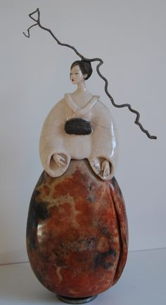 Sculpture Fille du Soleil Levant 2015 Pauline Wateau