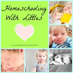 """Homeschooling With Littles"" Tips for homeschooling with a baby and/or toddler in the home! #homeschool #education #inspiration"