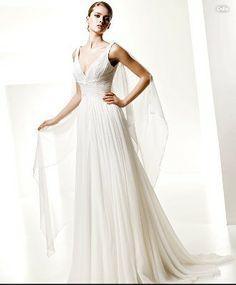 Hot Sale V-neck Straps Empire Waist Ruffled Funky - Wedding Dresses