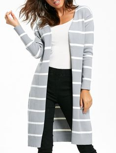 SHARE & Get it FREE   Open Front Striped Longline CardiganFor Fashion Lovers only:80,000+ Items • New Arrivals Daily • Affordable Casual to Chic for Every Occasion Join Sammydress: Get YOUR $50 NOW!