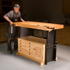 AW Extra - Adjustable Workbench - The Woodworker's Shop - American Woodworker