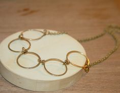 Circle Necklace Family Circle Necklace Gift for by BirchBarkDesign