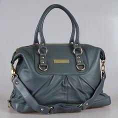 Gunmetal grey lambskin bag  http://www.etsy.com/shop/paulinacarcach