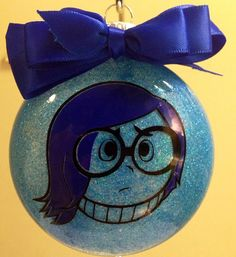 Disney inspired Inside Out glittered ornament by CraftyCuts4You