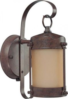 Nuvo Lighting 60/3945 One Light Piper Wall Lantern with Champagne Glass and Photocell, Old Bronze by Nuvo Lighting. $45.55. From the Manufacturer                Energy Star Rated Piper Wall Lantern Finished In Old Bronze with Champagne Glass and Photocell Width 5-Inch Height 10-5/8-Inch Extension 7-Inch Top to Outlet 6-Inch Includes 1- 13w Mini Spiral Lamp.                                    Product Description                60/3945 Energy Star: Yes Features: -One li...