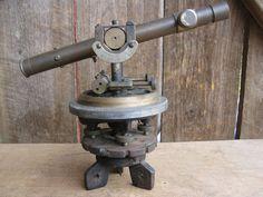 Bostrom-brady Mfg Co Vint Convertible Level Surveying Wooden Box Surveying Equipment Arts & Crafts Movement W/brass Latch