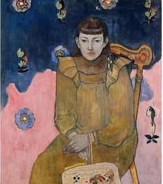 Portrait of a Young Woman by Paul Gauguin in oil on canvas, done in Now in Ordrupgaard Collection. Find a fine art print of this Paul Gauguin painting. Paul Gauguin, Henri Matisse, Rembrandt, Vincent Van Gogh, Kunst Online, Impressionist Artists, Pablo Picasso, Op Art, Figurative Art