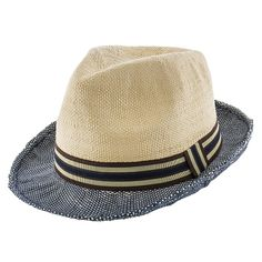 Ribbon - Jeanne Simmons Toyo Straw Trilby Fedora Hat - 6888 14ff91e436a0