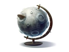 Globe for  moon tourism