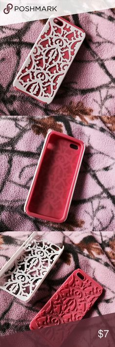 iPhone 5s case. It's got 2 parts to it and it supports your iPhone if you drop it. Only used once and still is in great condition. Rue 21 Other