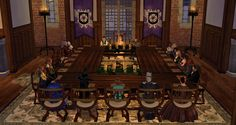 Winterfell Moot - 2015-02-07 Second Life, Table Settings, Photo And Video, World, The World, Table Top Decorations, Place Settings, Tablescapes, Earth