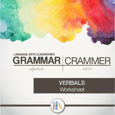 Teaching verbals or verbal phrases? This worksheet and definition ...