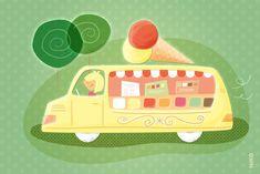 NIKO – Illustrateur › La marchande de glaces