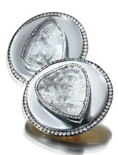 JAR Paris. A pair of diamond and mirror earrings, by JAR. Estimate USD 80,000 - 120,000 [C. Magnificent Jewels - 17 May 2017 - Geneva] #JAR #JARParis #JoelArthurRosenthal
