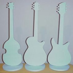 Buy Cool Guitar Centerpieces - Styrofoam guitar shape centerpieces