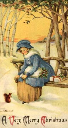 A very merry Christmas. #vintage #Christmas #cards