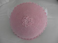 Crocheted cushion for my granddaughter - Back of cushion - By Sharon Blignaut