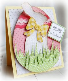 Easter card using the @Cricut®® and @Shawna Bergene Eckerle Meyer Stickers