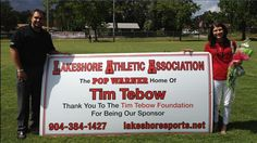 """Tim Tebow Foundation donates 300 football jerseys to Lakeshore Athletic Association"" firstcoastnews (July 29, 2012)"