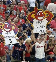 The Cleveland Indians Fans.  I am not much of a sport enthusiast, but I have to say the fans love for the game, I even get caught up!