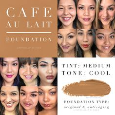 Cafe au lait MakeSense Foundation in Original and anti-aging formulas by SeneGence.