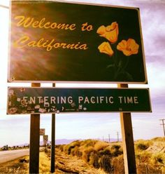 """We got more bounce in California than all ya'll combined"". This is a welcome to California sign. This picture means a lot to me. San Diego, San Francisco, California Sign, Northern California, California Living, California English, California Travel, Echo Park, Oh The Places You'll Go"