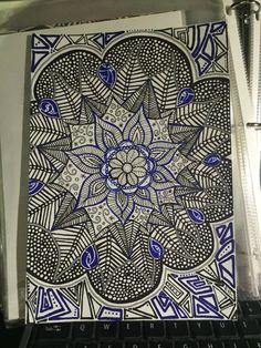 Flower Original Mandala Hand Drawn Artwork by TheChaoticPawPrints