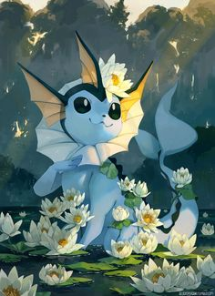 Vaporeon by bluekomadori on DeviantArt