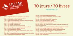 Pendant le mois de Décembre le personnel de Lilliad va répondre à un challenge : vous conseiller un nouveau livre chaque jour selon une thématique différente pendant 30 jours ;) #30DaybookChallenge