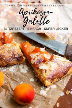 Aprikosen Galette - blitzschnelle Sommer Tarte This lightning-fast tart tastes incomparably deliciou Dessert Simple, Bon Dessert, Healthy Dessert Recipes, Pie Recipes, Easy Desserts, Snack Recipes, Tart Taste, Eggplant Dishes, Summer Cakes