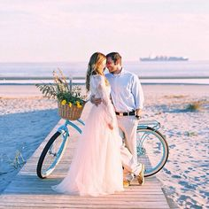 engagement photoshoot at the beach with bike and flowers , Space 46 maxi skirt , outfit inspiration