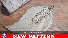 Diy macrame feathers tutorial new pattern keychain wall hanging Macrame Design, Macrame Art, Macrame Projects, Macrame Wall Hanging Patterns, Macrame Patterns, Art Macramé, Magic Knot, Micro Macramé, Diy Keychain