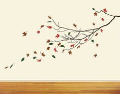Bare Branch and falling leaves SVG cut file by CraftyVectors, $7.95