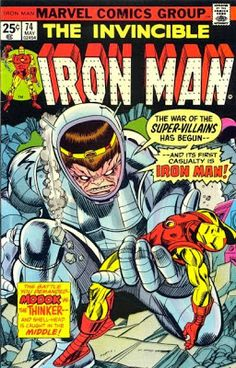 Iron Man #74,  Cover by Gil Kane - featuring MODOK