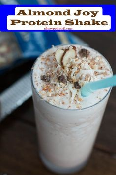You can get healthy and have a toned body without giving up your favorite almond joy! Who knew a protein shake could be so awesome! #thinkfi...