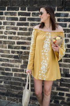 Yellow Summer Style Dress London Shop Tobi / A Spring Lookbook | Lauren Rose Style | Bloglovin'