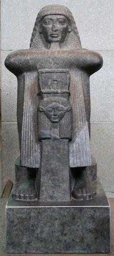 Statue of High Priest of Amun Rami Raia (19th Dynasty, British Museum)
