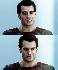 Henry Cavill as Superman - he has ruined men for me, I swear.
