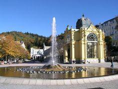 République tchèque Marienbad (Mariánské Lázně) - fontaine chantante