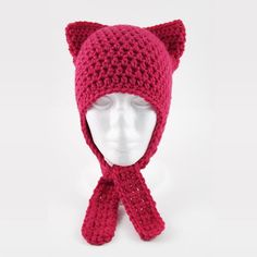 When a standard crochet winter hat just won't do, try working up the Cute and Easy Crochet Cat Hat instead. This crochet hat pattern is worked up in much the same way as a typical hat, but with the extra addition of crochet earflaps.