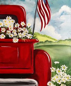 It's a fairwell to summer with our popular All American Summer painting. Don't miss your last chance to paint this beauty that will look great on your walls year round. Summer Painting, Easy Canvas Painting, Diy Canvas Art, Diy Painting, Painting & Drawing, Beginner Painting, Canvas Painting Projects, Rustic Painting, Painting Classes